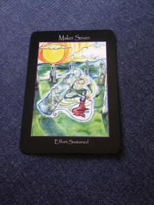 "Maker Seven from the ""Tarot of the Sidhe"" by Emily Carding"