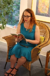 Me reading at Phoenix and Dragon in Atlanta, GA. Photo by H. Greene.
