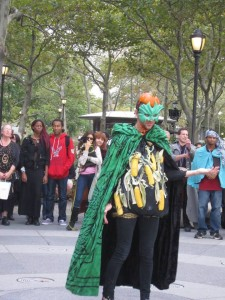NYC Pagan Pride Day 2012. Sean Monistat as the Harvest King. Photo by Nanci Moy!