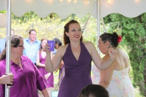 This is me just after officiating Hilary Parry Haggerty's wedding! I love Witch-hitching!!!