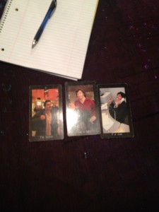 """My sample reading in """"Tarot for One."""" It said to me my handsome husband had good news for me."""