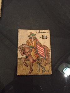 """The Trumpeter,"" marked #4. Maybe this deck had a Trumpeter instead of an Emperor?"