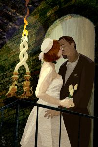 The Lovers from The Urban Tarot by Robin Scott.